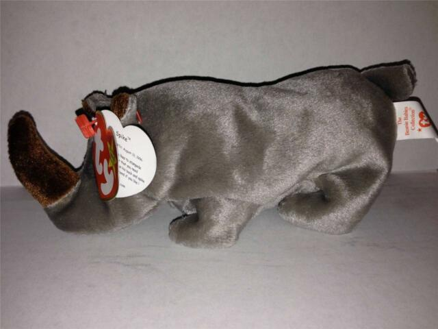 3b3f2ff8bc8 Ty Beanie Baby Spike The Rhinoceros 5th Generation Hang Tag 1996 for ...