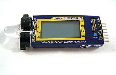 Battery Voltage Checker Tester & Alarm Cellmeter 6 1S~6S LiPo LiFe Li-ion USA H1
