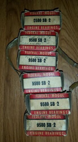 19331941 Plymouth straight six FM 9580 SB 2 connecting rod bearing set NORS