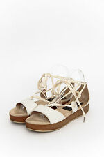 MARC BY MARC JACOBS White Lace Up Flatform Platform Wedge Sandal 7.5/37.5/38