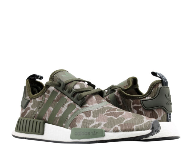 2ad28f351 Adidas NMD R1 Sesame Steel Base Green Duck Camo Men s Running Shoes D96617