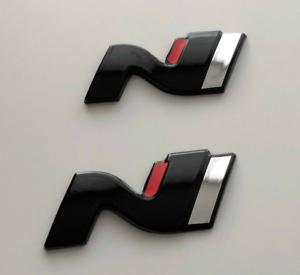 Hyundai-i-30N-N-Symbol-Set-Cover-Hatchback-hochglanz-schwarz-blacked-out-Badge