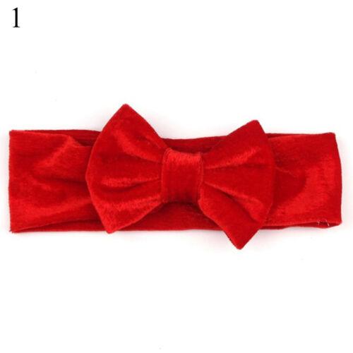 Velvet Hair Bow For Baby Girl Headband Newborn Toddler Hairband Elastic Headwear