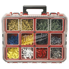 10-Compartment Pro Small Parts Organizer Garage Storage Box Screw Bolt Fuse Nail