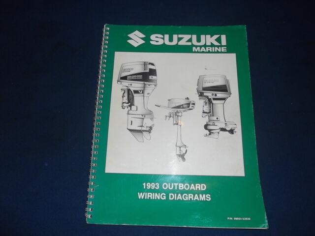 Suzuki 1993 Outboard Engine Motor Wiring Diagram Service