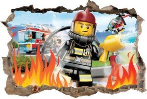 S30 Wandtattoo 120 Cm Feuerwehrmann Sam Fireman Lego Sticker 3d Wandaufkleber Ebay