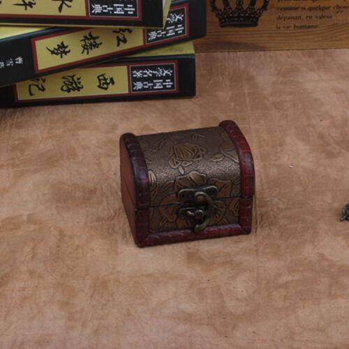 Decorative Vintage Trinket Boxes Small Wooden Storage Jewelry Box Treasure Chest