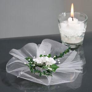 Hochzeit Tischdeko Efeu Und Rosen 16 Cm Tischdekoration Heirat Deko