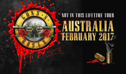 IRON ON TRANSFER or STICKER GUNS N ROSES AUSTRALIAN TOUR 2017 NOT ON THIS LIFE