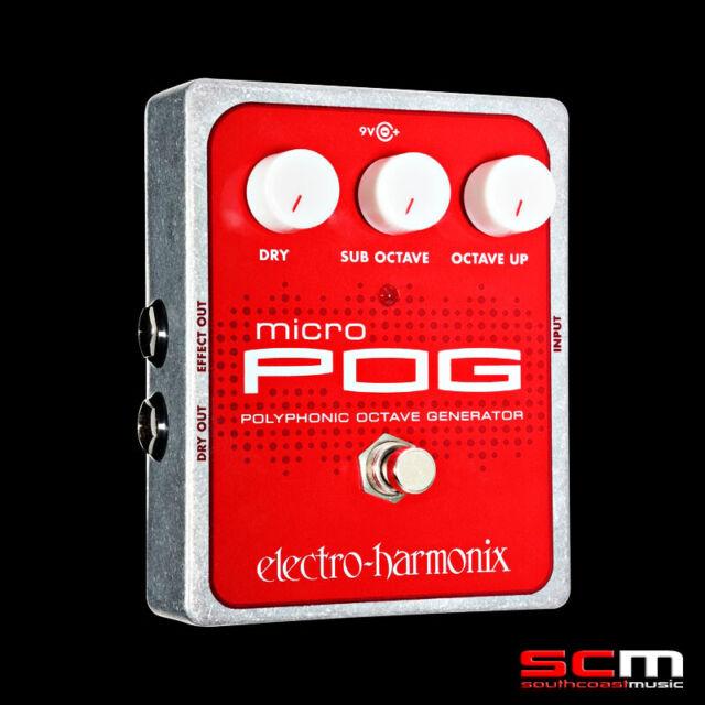 Electro-Harmonix Micro POG Polyphonic Octave Generator Guitar Pedal FX Effects