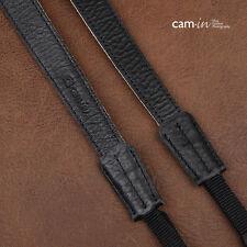 Black & White Leather Adjustable Cam-in DSLR Camera Strap w/ Tapered Ends | UK