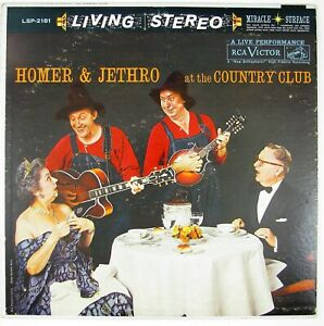 HOMER & JETHRO At The Country Club LP 1960 COUNTRY  VG++ NM-
