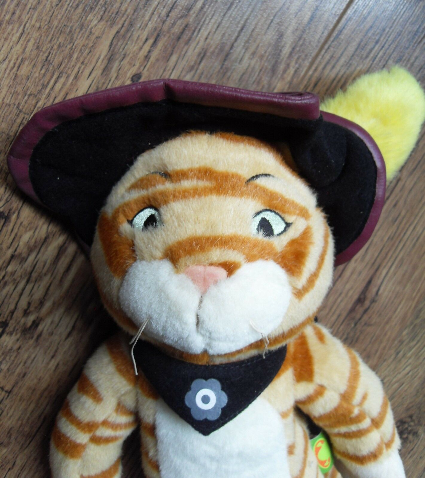 Shrek 2 PUSS IN BOOTS BOOTS BOOTS Bendable Plush Cat 2003 Bev Hills Teddy Co 16  9d989a