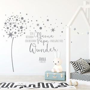 wandtattoo spruch viel wunder babyzimmer wanddeko name wandgestaltung m2342 ebay
