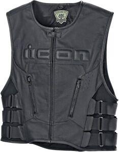 Icon Regulator D30 Leather Motorcycle Vest