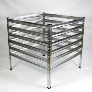 Metall Gartenkomposter 90-120 cm verzinkt Komposter Garten Metallkomposter