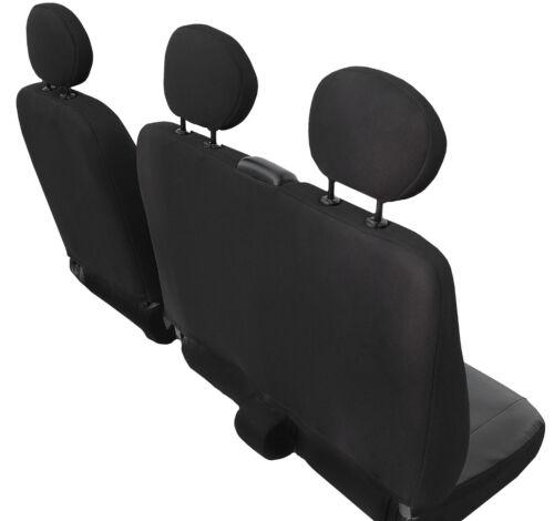 Bus Maßgefertigte Autositzbezüge  1+2 Schonbezüge Kunstleder  VW T6 schwarz