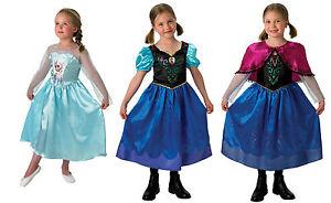 COSTUME-FROZEN-Principessa-Anna-Elsa-Carnevale-Vestito-Bambina-Originale-Disney