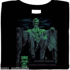 Zombie-Abe-Lincoln-Shirt-Sz-Sm-5XL-Halloween-living-dead-monster-horror