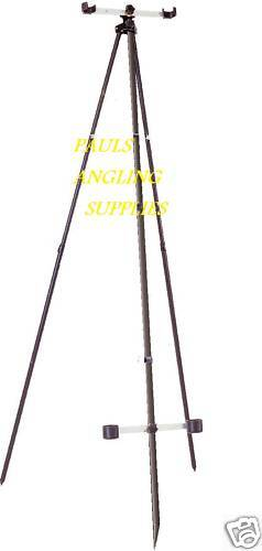 Sea Fishing 2 ROD BEACH MATCH TRIPOD 2 Kopf 2 Cup 6FT