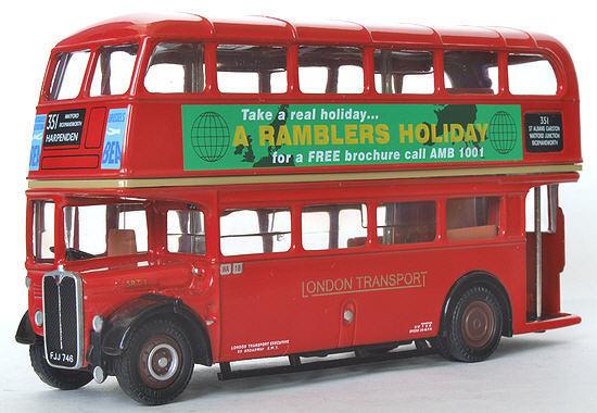 EFE 10128B AEC Regent SRT ' London Transport ' Rambler Holidays - Route 351 St