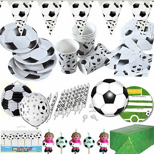 Details Zu Fussball Geschirr Deko Zur Mottoparty Kindergeburtstag Party Set Fussballparty