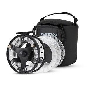 New-Greys-GTS-500-Fly-Fishing-Reel-3-Spools-amp-Case