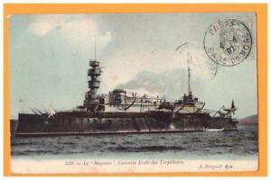 BATEAU-de-GUERRE-CUIRASSE-ECOLE-des-TORPILLEURS-034-LE-MAGENTA-034-1907