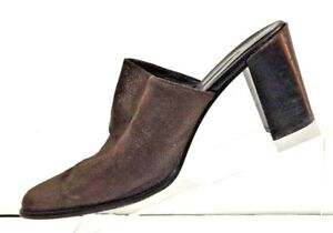 DONALD-J-PLINER-Women-039-s-Brown-Leather-Slides-Mules-Shoe-Size-9M