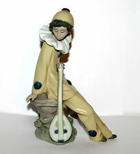 Lladro Nao Porzellan * Figur  Harlekin Troubadour Pierrot Musik-Clown 20cm  8380