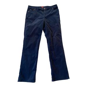 Charter Club Womens Slim It Up Size 12 Regular  Corduroy Jeans dark blue