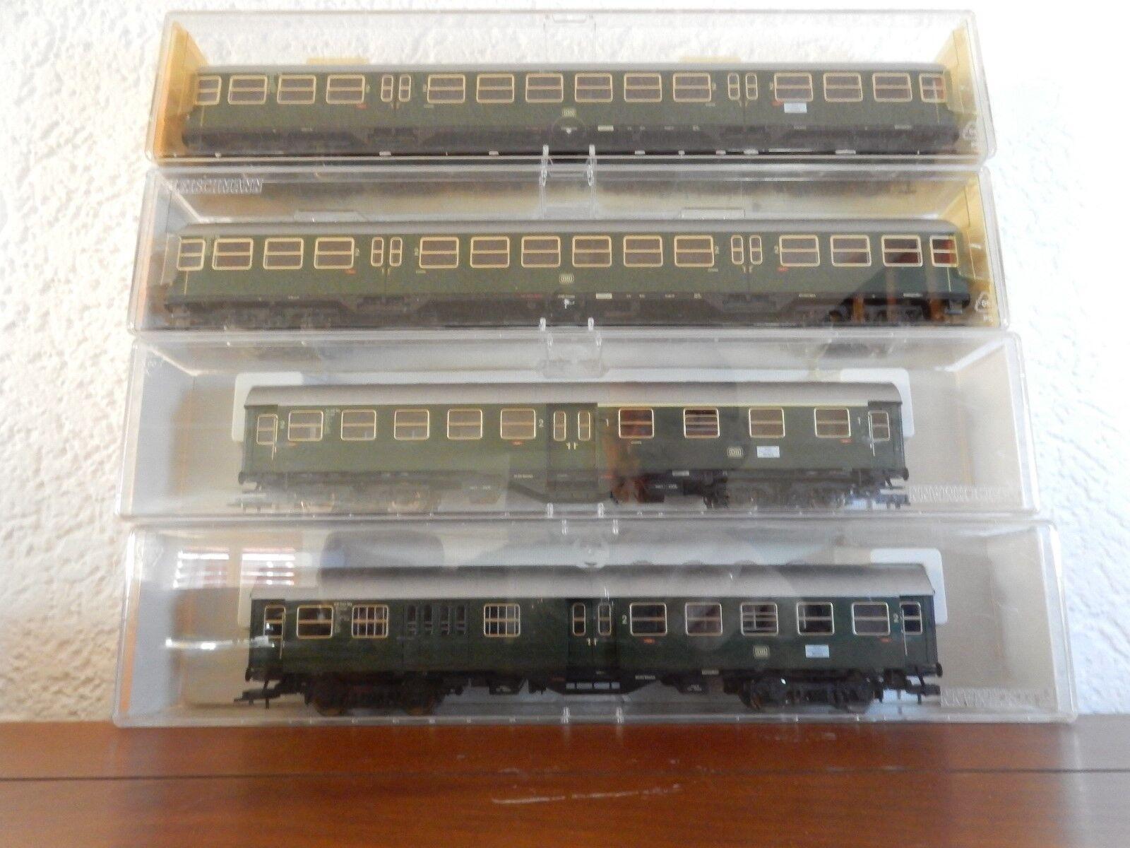 Fleischmann eilzug vagoni-Set  originale  illuminato 5860, 5861, 5862, 5863