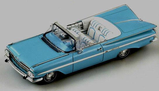 Merveilleux en résine-MODELCAR Chevrolet Impala Convertible 1959-Bleu-échelle 1 43