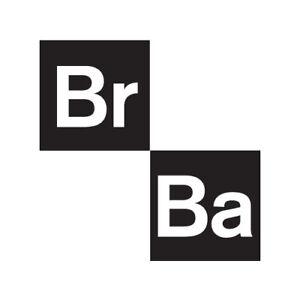 breaking bad br ba 4quot logo new vinyl decal