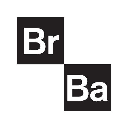 "BREAKING BAD 4/"" Logo BrBa VINYL DECAL STICKER NEW"