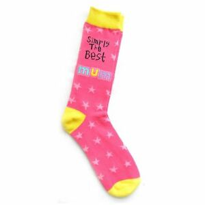 Mum Knows Best Pink Socks Birthday or Christmas Present
