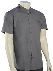 Rusty-Sonar-SS-Button-Down-Shirt-Coal-New