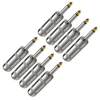 Seismic Audio Cable Connector -eight 1/4 Large Barrel Mono Ts Nickel on sale