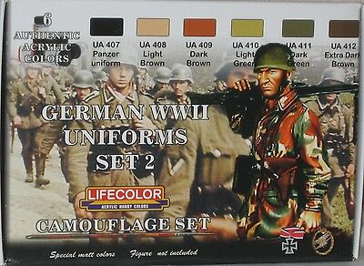 Lifecolor Acrylics LC-CS05 World War 2 German Uniforms set 2