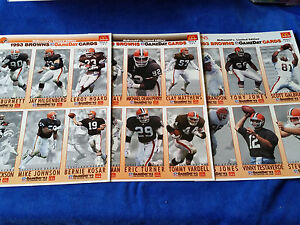 NFL-Football-McDonalds-GameDay-Cards-Set-Of-3-6-Card-Pages-Cleveland-Browns