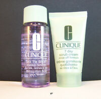 Clinique 7-day Scrub 1 Oz. And Take The Day Off Makeup Remover 1.7 Fl. Oz.-new