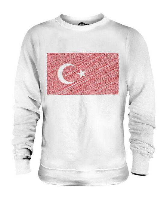 TURKEY SCRIBBLE FLAG UNISEX SWEATER  TOP GIFT TÜRKIYE TURKISH