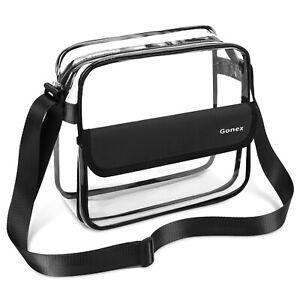 e8fe9ce20b19 Details about Clear Crossbody Messenger Bag NFL Stadium Approved  Transparent Shoulder Bag