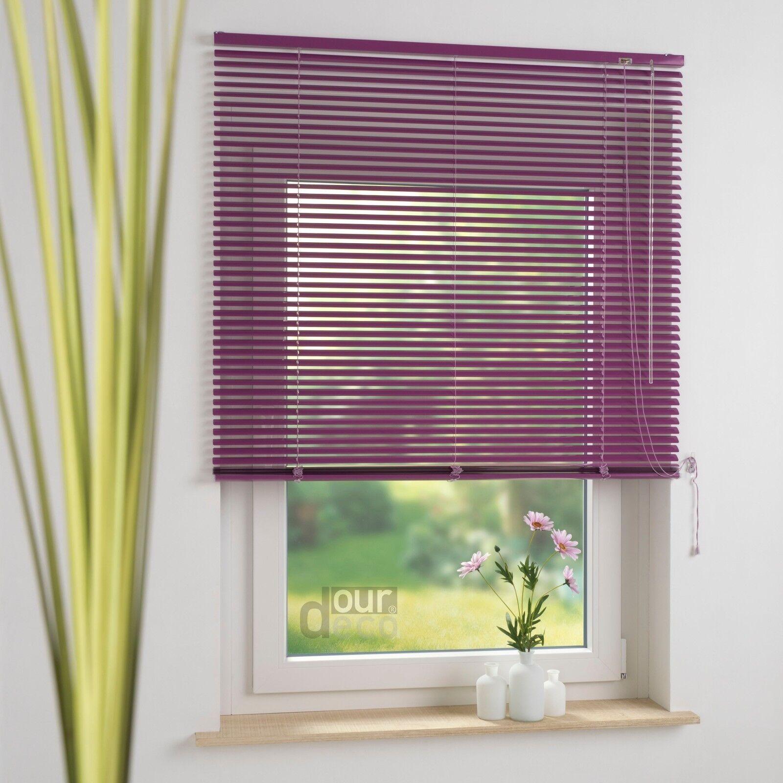 Ourdeco® Aluminium-Jalousie Fenster Rollo Jalousette Auszugslänge 220 cm flieder flieder flieder 2cdf6b