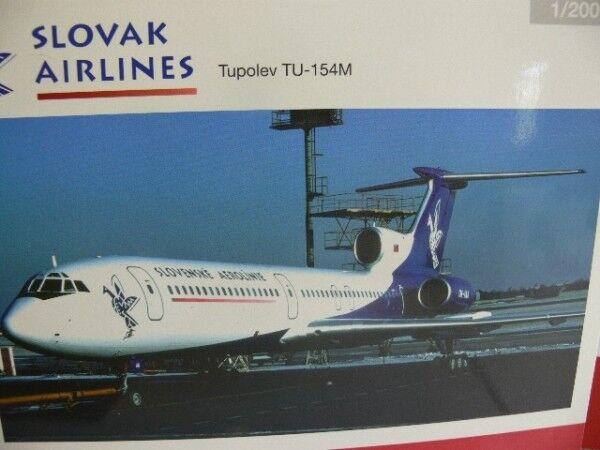 ordene ahora los precios más bajos 1 200 Herpa Wings tupolev tu-154m Slovak Slovak Slovak airlines 558143  venta con descuento