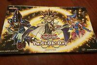 Yugioh Day Yugi Dark Magician Girl Dark Magician Playmat Near Mint Fast Shipping