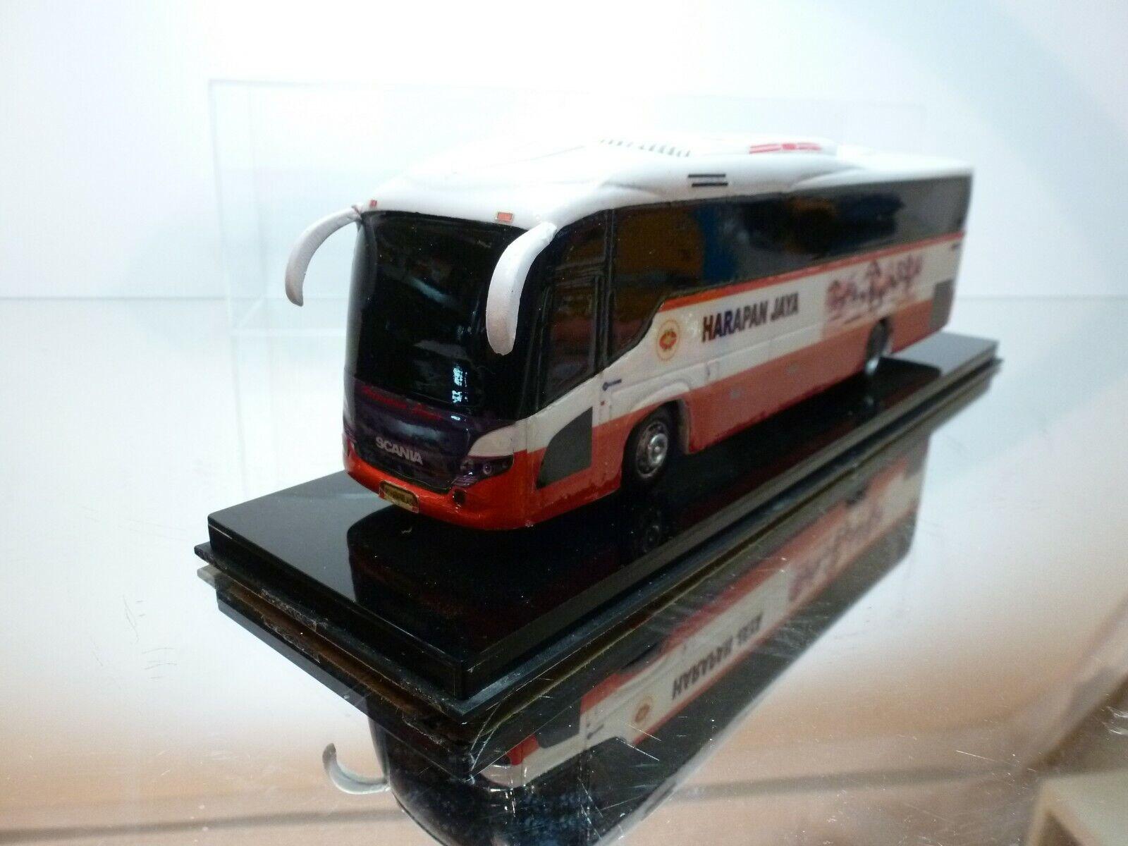 KIT built SCANIA K380 BUS - HARAPAN JAYA - AKAP 1 50 RARE - GOOD IN SHOW-CASE