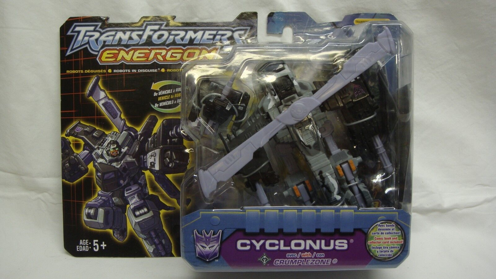 TRANSFORMERS ENERGON RID CYCLONUS CRUMPLEZONE ROBOTS IN DISGUISE NEW SEALED