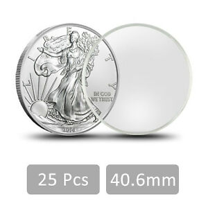 10PCS 40.6mm Coin Holder Capsule Direct Fit For 1oz American Silver Eagles
