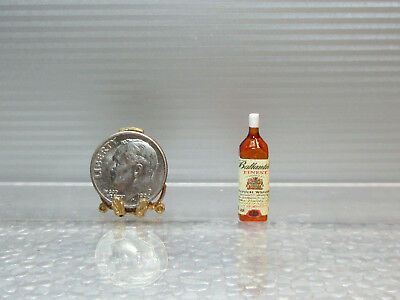 Dollhouse Miniature Plastic Ballantine/'s Scotch Whiskey Bottle